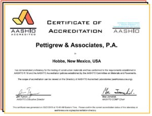 AASHTO Accreditation